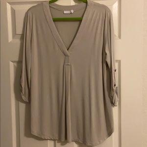 Grey dress blouse